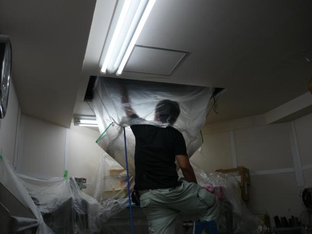天井カセットエアコン清掃