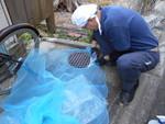 クロゴキブリ対策雑排水マンホール防虫ネット