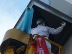 高所の防虫ネット取り付け工事