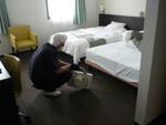 殺虫剤を使わないホテルのダニ防除1