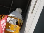 高所ダクトの鳥対策侵入封鎖1