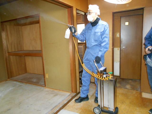 炭酸ガスによる殺菌消臭施工