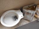 トイレ解体作業2