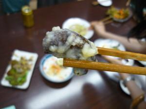 アブラゼミ幼虫の天ぷら
