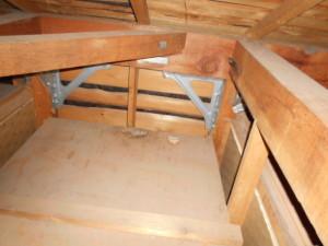屋根裏コウモリ糞清掃済み2