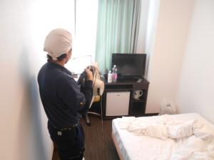 ホテルのダニ防除1